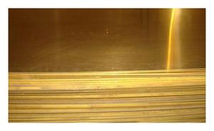 Лист латунный 9х600х1500мм ЛС63